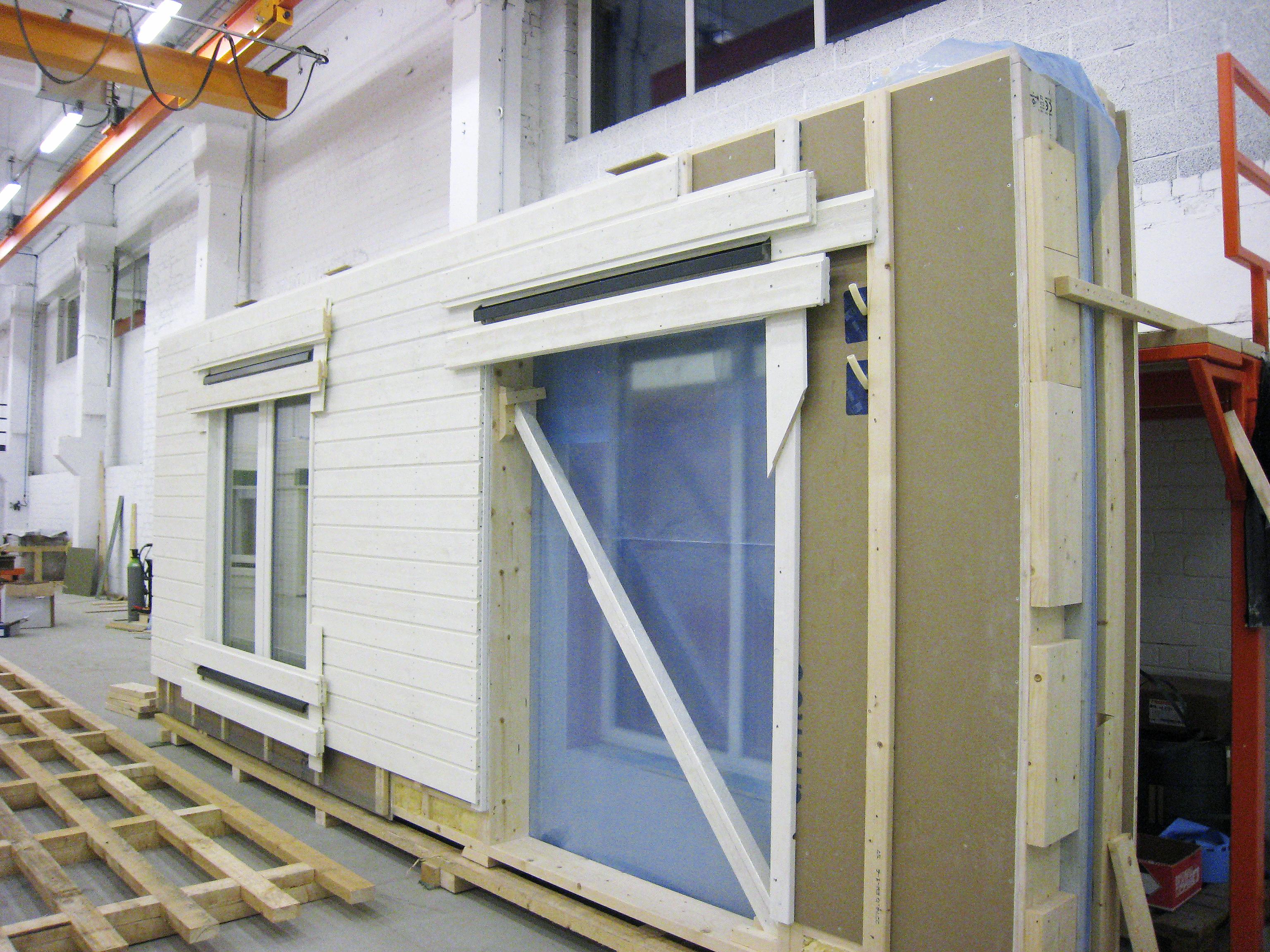 Prefabricerade väggelement trä